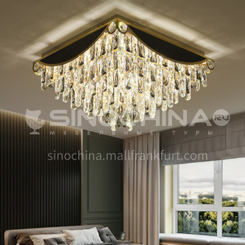 Crystal lamp round living room led modern hall lamp LG-X121