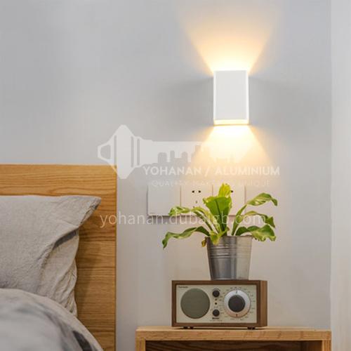 Modern minimalist outdoor wall lamp square outdoor waterproof wall lamp creative bedroom corridor aisle bathroom balcony wall lamp YYHW 8010D