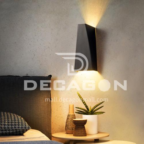 Wall lamp outdoor balcony light waterproof led simple creative outdoor light YYHW 8018