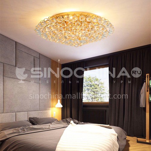 Round light luxury crystal lamp bedroom lamp modern crystal ceiling lamp living room lamp GD-1280