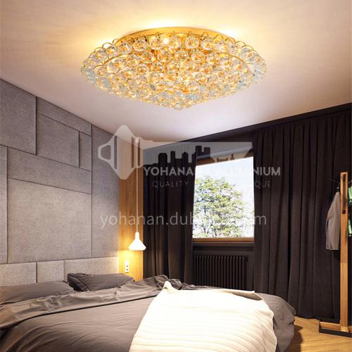 Round light luxury crystal lamp bedroom lamp modern crystal ceiling lamp living room lamp GD-1280