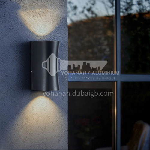 Outdoor lamp staircase aisle led wall lamp Nordic modern minimalist creative exterior wall lamp courtyard balcony wall lamp YYHW 8035 8037 8049