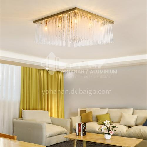 Modern dining room ceiling lamp rectangular crystal lamp light luxury dining room lamp GD-1277