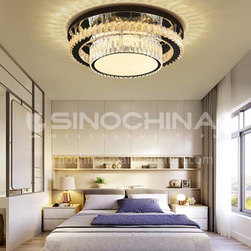 Crystal lamp living room lamp modern minimalist light luxury atmosphere led ceiling lamp bedroom dining room lamp LG-X95 round