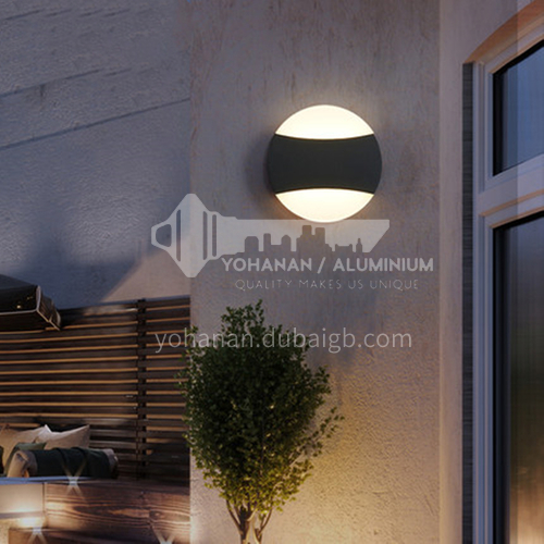 LED wall lamp waterproof outdoor simple garden lamp personality creative outdoor balcony entrance lamp wall lamp YYHW 8043