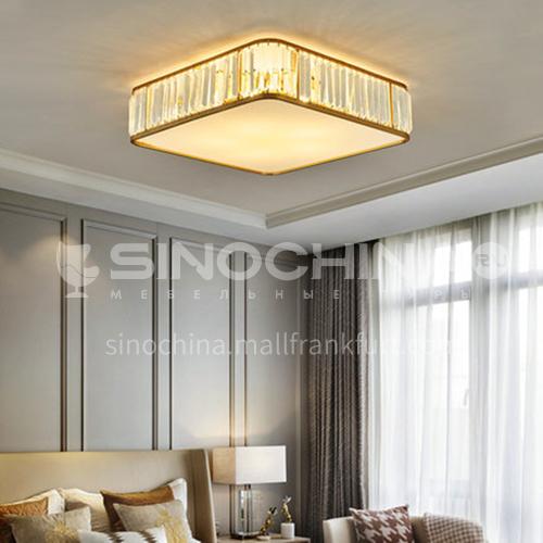 Bedroom crystal ceiling lamp modern household corridor living room lamp light luxury square lamp LG-X126
