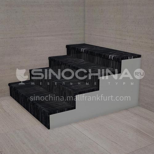 Natural black marble staircase M-YA93H