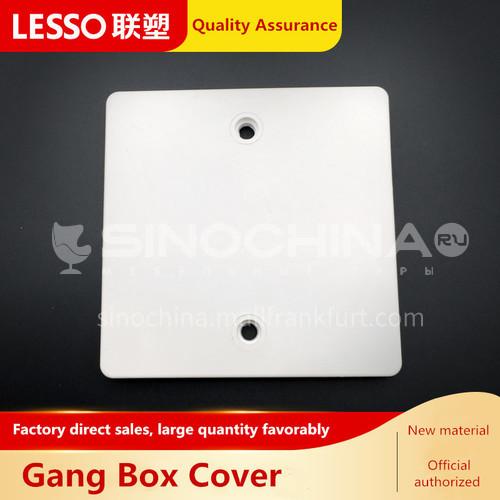 Gang Box Cover (PVC Conduit Fittings) White