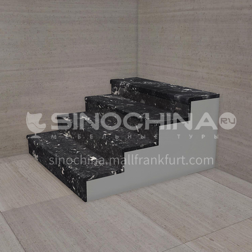 Natural black light luxury marble staircase M-HA00H