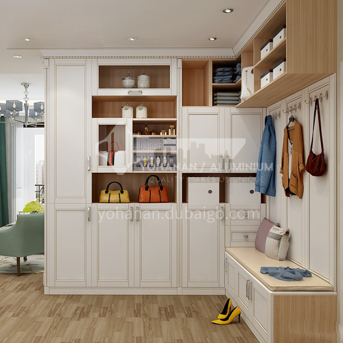 Multifunctional modern style PVC with HDF design walk-in cabinet GF-109