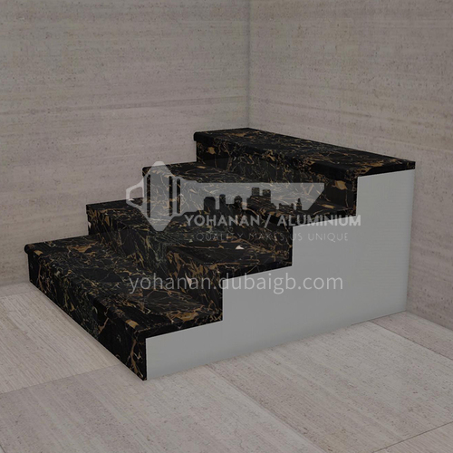 Natural black light luxury marble staircase M-YA45D