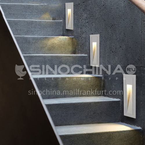 Anchor lamp embedded courtyard garden outdoor waterproof long staircase corner lamp corridor step aisle step lamp YYHW 8058