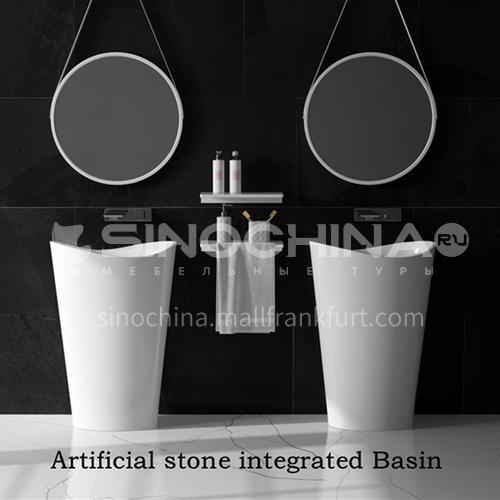 Artificial stone column basin