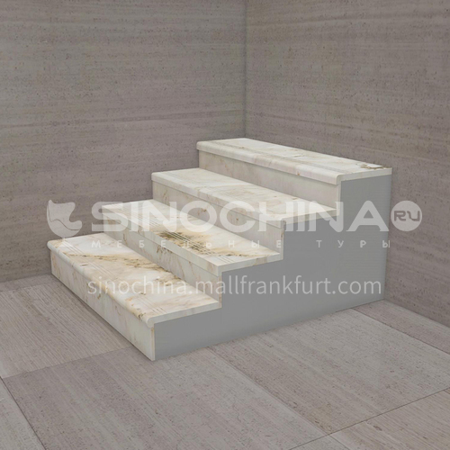 Natural white luxury jade staircase O-CC50Y