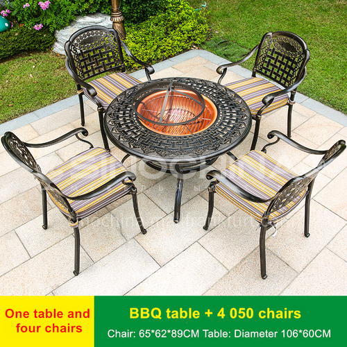 JOZL-TY050 outdoor grill combination, waterproof and durable for private gatherings in garden villas