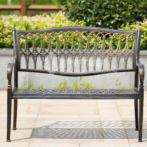 JOZL- new outdoor double chair, bronze color, durable, waterproof, beautiful
