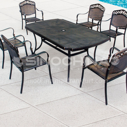 JOZL-TY018A outdoor table and chair combination, bronze new waterproof durable high quality