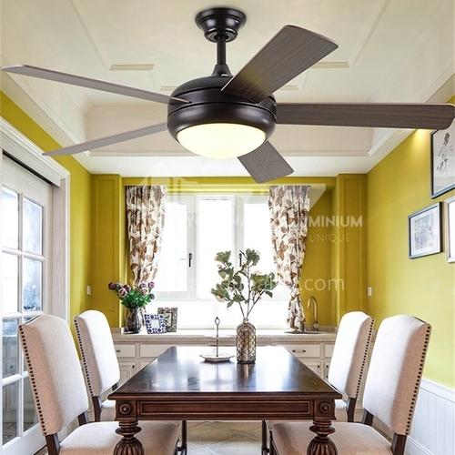 American minimalist ceiling fan lamp modern retro European style living room bedroom fan lamp-HJ-853