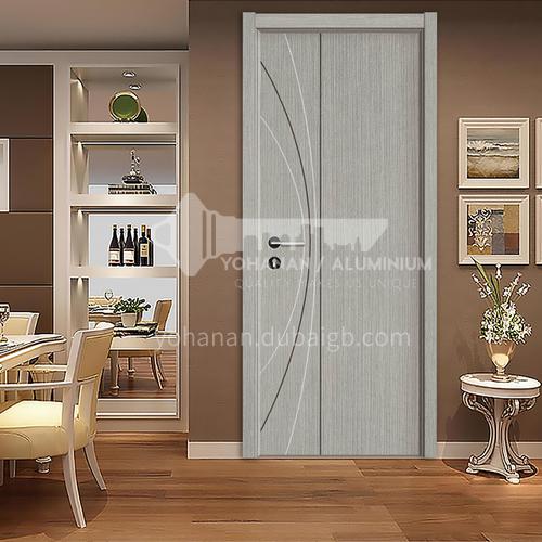 Multilayer board modern minimalist high quality paint-free ecological door silent hotel door 1