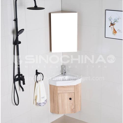 פרוייקט שטח דירות קטנות וחוסך ארון אמבטיה מעץ מלא רב שכבתי ללא צבע קומפקטי LX3002