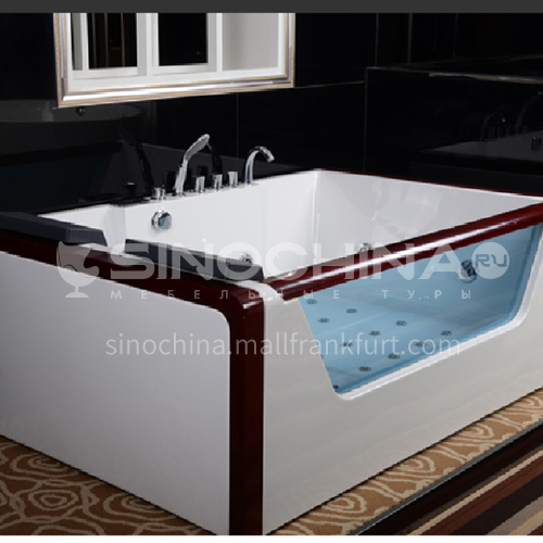 Rectangular shape  acrylic massage bathtub   double  Jacuzzi