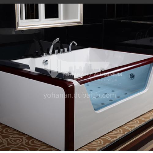 Rectangular shape  acrylic massage bathtub   double  Jacuzzi