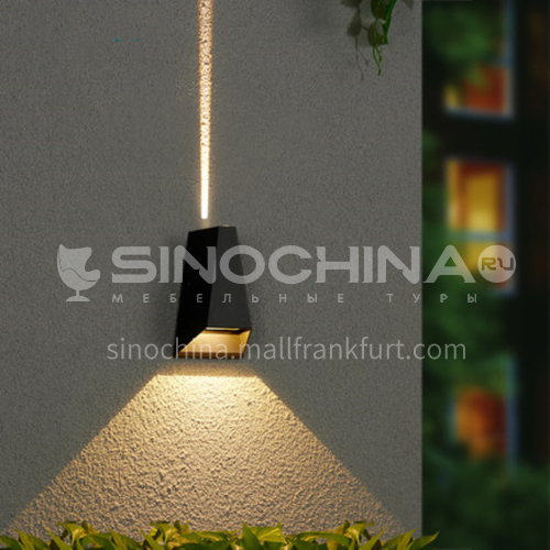 LED outdoor wall light simple exterior wall waterproof creative modern balcony garden light outdoor wall light-YY-8075