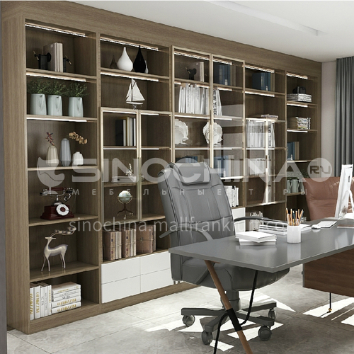 Modern style hot-selling high grade tempered glass bookcase-GF-013