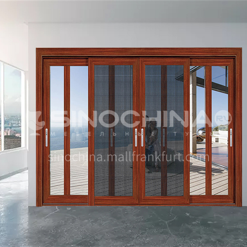 1.6mm three-track soundproof sliding door with gauze 10