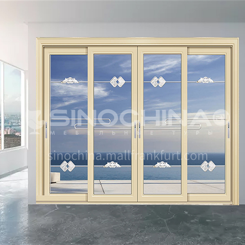 1.6mm craft glass soundproof sliding door 11