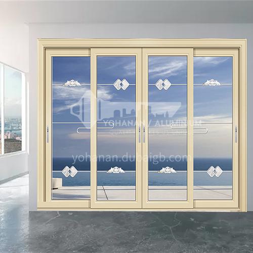 1.6mm craft glass soundproof sliding door 11