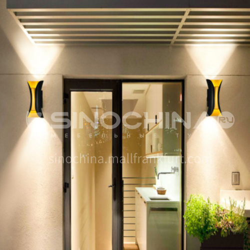 LED outdoor wall lamp waterproof aisle European style modern minimalist courtyard wall lamp-YY-8109