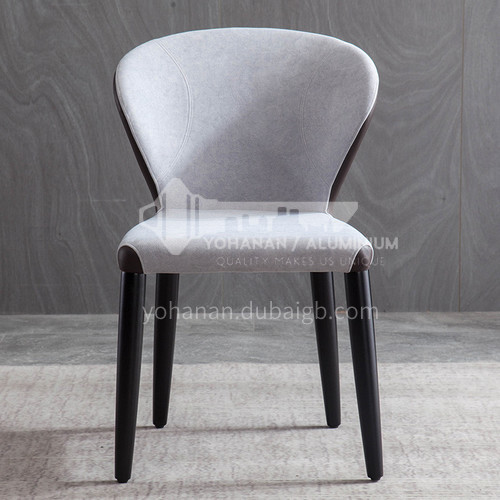 HT-112 restaurant high-end modern Nordic dining chair + high-quality black carbon steel + stereotyped cotton + two-color high-quality xipi