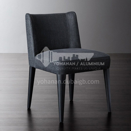 HT-810 restaurant Nordic modern dining chair + high quality carbon steel + high density sponge + high quality cotton and linen