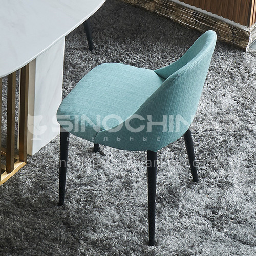 HT-813 Postmodern Light Luxury Dining Chair Home Nordic Solid Wood Back Chair Sales Department Negotiation Chair Cafe Lounge Chair