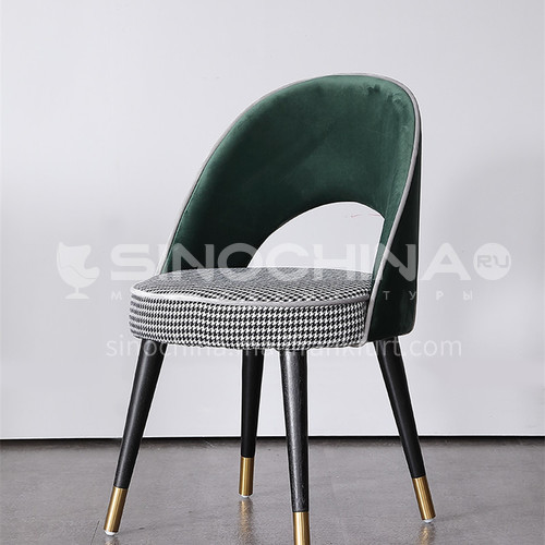 HT-816 Postmodern Light Luxury Dining Chair Home Nordic Solid Wood Back Chair Sales Office Negotiation Chair Cafe Lounge Chair