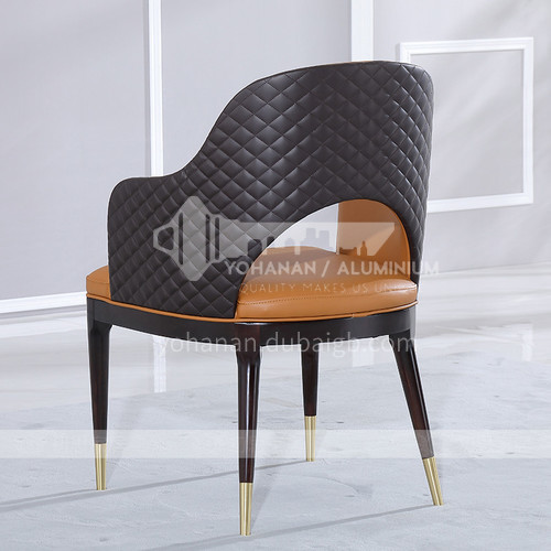 HT-818 Postmodern Light Luxury Dining Chair Home Nordic Solid Wood Back Chair Sales Department Negotiation Chair Cafe Lounge Chair