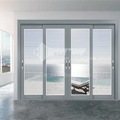 1.6mm series aluminum alloy sliding door craft glass