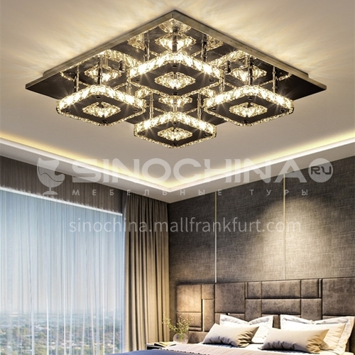 Ceiling lamp rectangular living room led crystal lamp modern lamp living room lamp bedroom lamp LG-X107