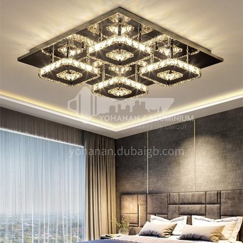 Ceiling lamp rectangular living room led crystal lamp modern lamp living room lamp bedroom lamp LG-X107