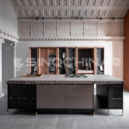 American style kitchen PVC with HDF GK-361
