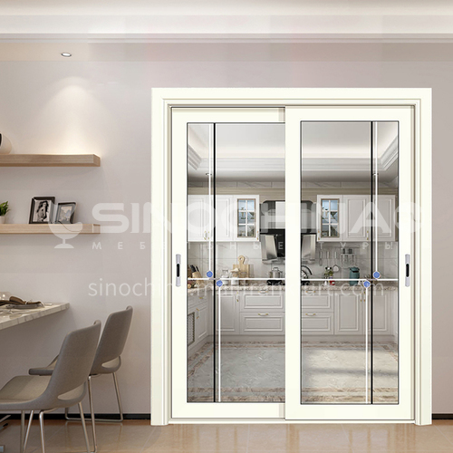 1.4mm aluminum sliding door with decorative glass