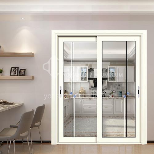 1.4mm aluminum sliding door with decorative glass