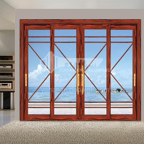 B 1.4mm aluminum alloy sliding door can be customized color living room kitchen bathroom sliding door glass sliding door 23