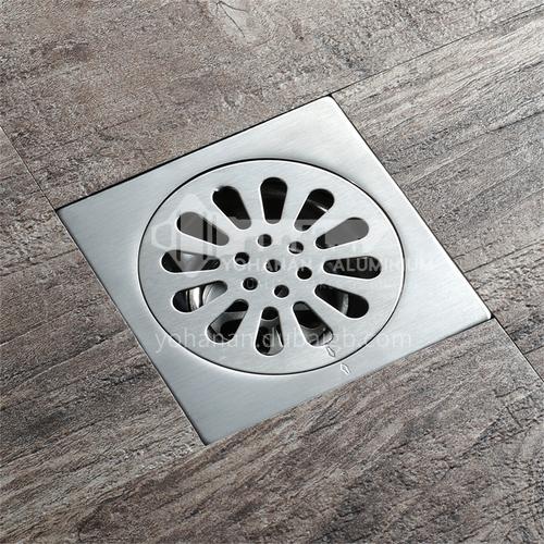 304 silver stainless steel floor drain 10*10