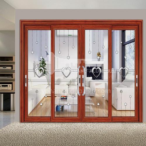 B 1.4mm Aluminum alloy modern style soundproof sliding door, room, bathroom, indoor sliding glass door 16