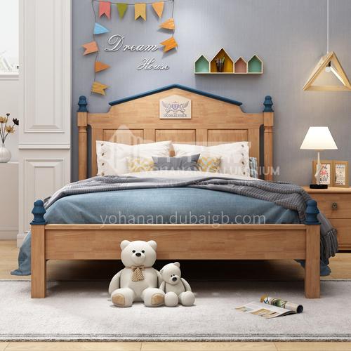 JLX-3111 bedroom modern solid wood frame, foam mattress fashion children bed