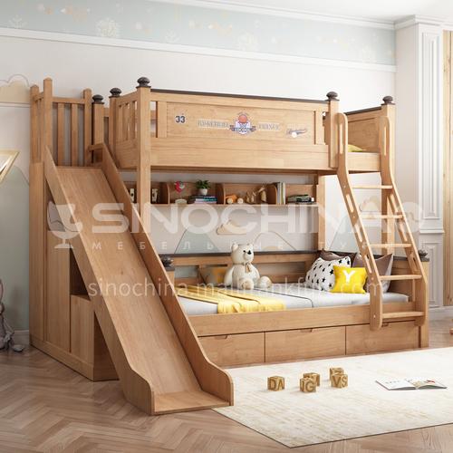 JLX-3909-1 bedroom modern solid wood frame, foam mattress fashion double bed