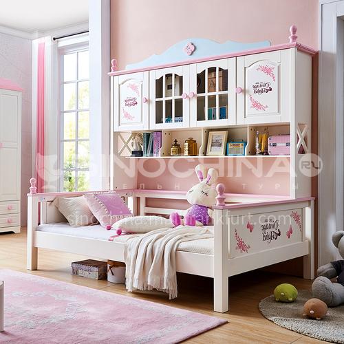 JLX-3911 bedroom modern solid wood frame, foam mattress fashion double bed