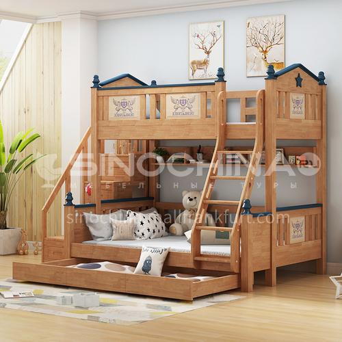 JLX-3913 bedroom modern solid wood frame, foam mattress fashion double bed
